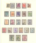 ÖSTERREICH 1925-1937gestempelte Sammlung in LINDNER T-Falzlosvordrucken, mitPortomarken, komplett