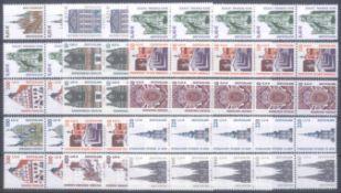 BUND 2000/2004, postfrische Nominale mit 57,- EuroLot mit postfrischen 5er Rollenstreifen (15) der