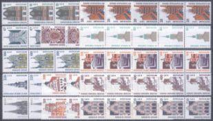 BUND 2000/2001, postfrische Nominale mit 76,- EuroLot mit 13 verschiedenen postfrischen 5er
