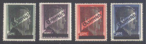ÖSTERREICH 1945 GITTER - ÜBERDRUCKE auf UNVERAUSGABTENHITLER - Markwerte, Michelnummern Va B bis
