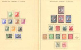 III. REICH 1934 bis 1945, mit OSTROPA - BlockSammlung auf alten Schaubekblättern, Erhaltungen
