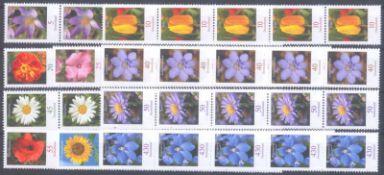 BUND 2005, postfrische Nominale mit 38,- EuroLot mit 10 verschiedenen postfrischen 5er