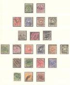 DEUTSCHES REICH - Kaiserreich 1875-1920gestempelte Sammlung bis beginnende Inflation in LINDNERT-