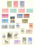 EURROPA CEPT mit SPANISCH - ANDORRA 1972saubere postfrische Sammlung auf Steckseiten mit CEPT,
