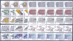BUND 2002/2004, postfrische Nominale mit 94,- EuroLot mit 14 verschiedenen postfrischen 5er