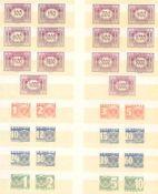 ÖSTERREICH PORTOMARKEN 1922 und 1935Michelnummern P 118-131 und 132-158 je postfrisch tadellos.