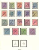 ÖSTERREICH 1918-1924gestempelte Sammlung in LINDNER T-Falzlosvordrucken,komplett gescannt. Dabei