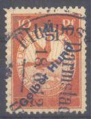 """DEUTSCHES REICH 1912 Flugpost """"GELBER HUND""""Michelnummer IV, rundgestempelt Pracht, Katalogwert"""