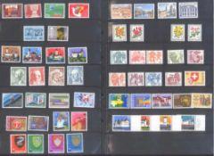 SCHWEIZ, NOMINALPOSTEN mit 278,- SCHWEIZER FRANKENSammlung von postfrischen Marken vorwiegend der