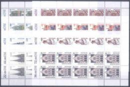 BUND 2002/2003, postfrische Nominale mit 104,- Euro8 verschiedene postfrische Werte der