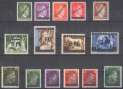 ÖSTERREICH 1945 ÜBERDRUCKE auf III. Reich MarkenMichelnummern 660-663, IV, 664-667 und 668-673in