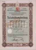 Heinrich Lanz Maschinenfabrik Mannheim Anleihe von 1920mit Original Autograph von Lanz