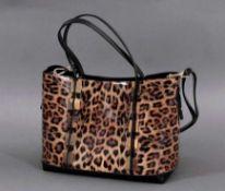 """Le Miel Handtasche """"Leo-Look""""Neuwertig,mit abnehmbarer Innentasche und Reißverschlußfach,zwei Henkel"""