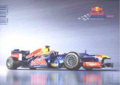 Sebastian Vettel Autogrammkartemit original Unterschrift.