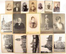 FOTOKONVOLUT, ca. 55 zivile Visit- u. Kabinett-Aufn., meist Österreich-Ungarn, Frauen, Kinder,