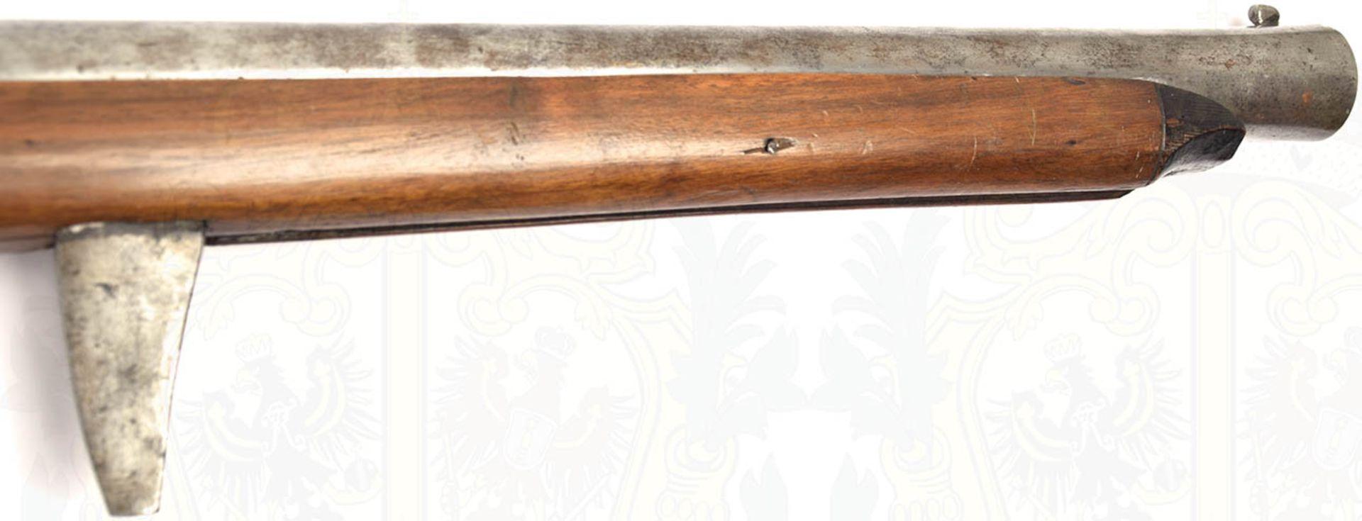 RADSCHLOß-WALLBÜCHSE, schöne, detailgetreue Nachfertigung eines Modells um 1700, eiserner, etwa - Bild 2 aus 9