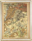 LANDKARTE GRUNEWALD, col. Steindruck, um 1905, Abschnitt von Kiesslings Specialkarte, Gebiet