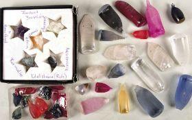 SAMMLUNG MINERALIEN, über 100 Stein-, Halbedelstein u. Mineralien-Proben, Salze, Kristalle etc.,