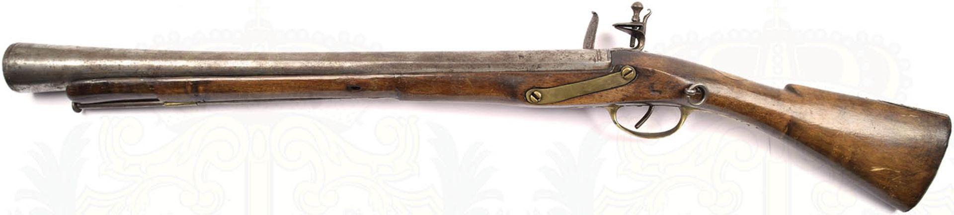 STEINSCHLOßTROMBLON, Italien, um 1800, glatter Lauf m. undeutlicher Punze u. kleinen Närbchen, - Bild 3 aus 3