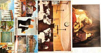 KONVOLUT KOMPONISTEN UND KAPELLMEISTER, 3 Farb-AK u. 1 Autogramm-Karte m. OU bzw. Texten von: Johann