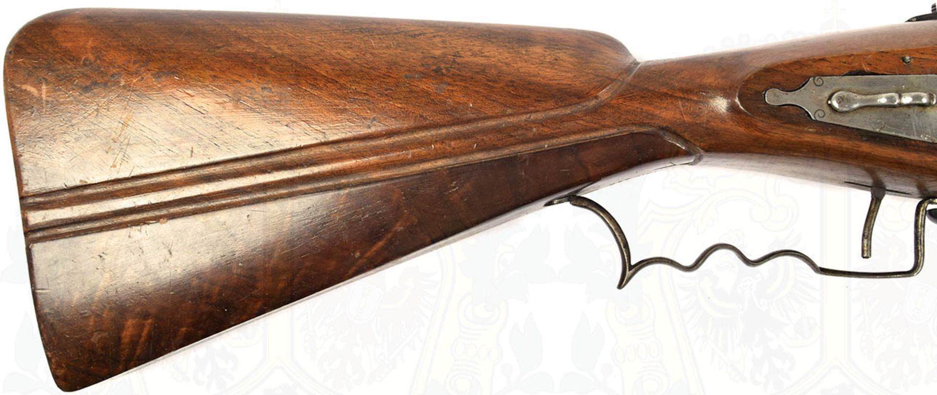 RADSCHLOß-WALLBÜCHSE, schöne, detailgetreue Nachfertigung eines Modells um 1700, eiserner, etwa - Bild 6 aus 9