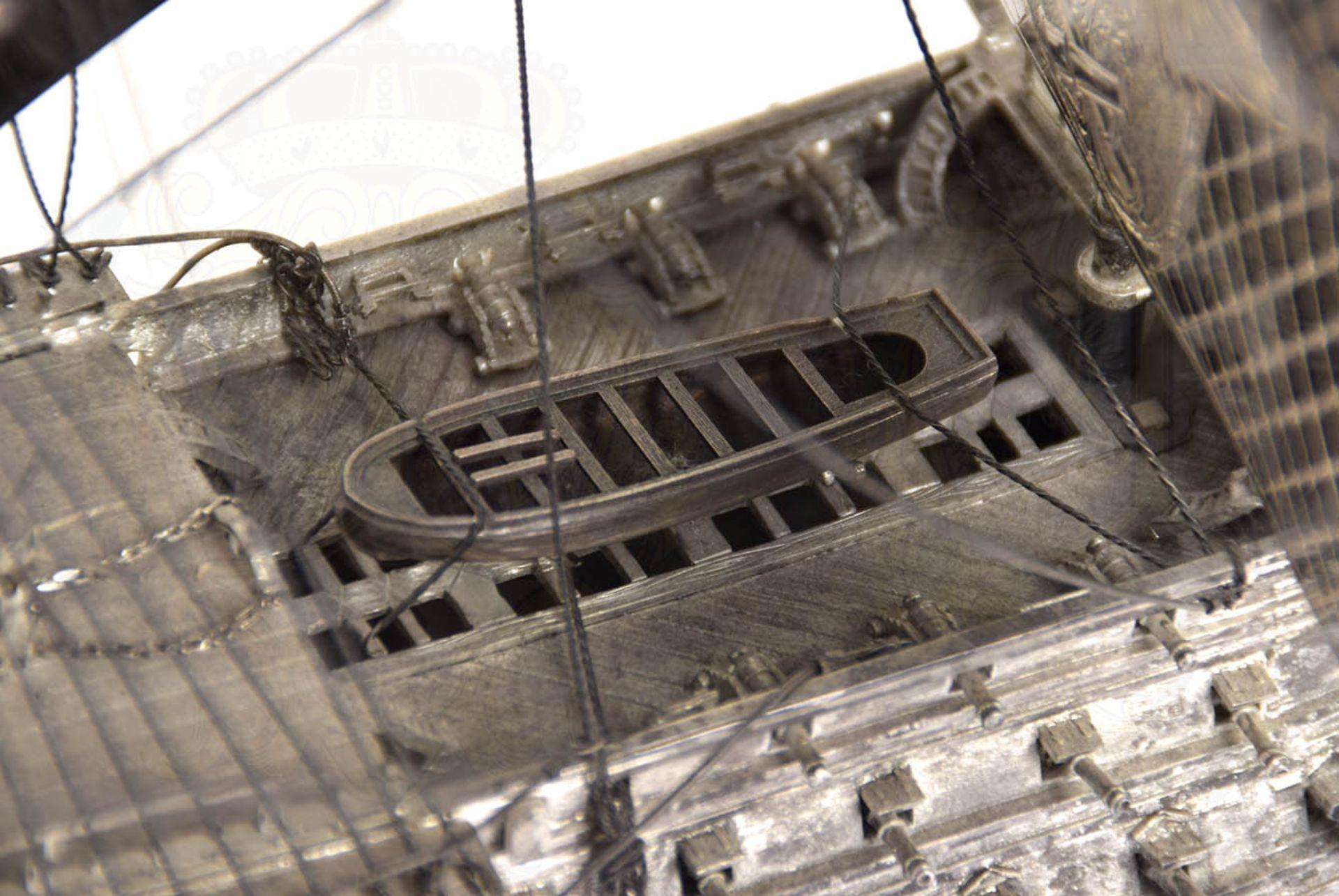 MODELL-LINIENSCHIFF, Dreidecker-Segellinienschiff der 2. Hälfte des 18. Jhd. mit 100 Kanonen, - Bild 5 aus 15