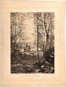 """RADIERUNG """"AUS DEM SIEBENGEBIRGE"""", nach Bernhard Mannfeld (1848-1925), 25x33 cm, Tafel 6 der"""