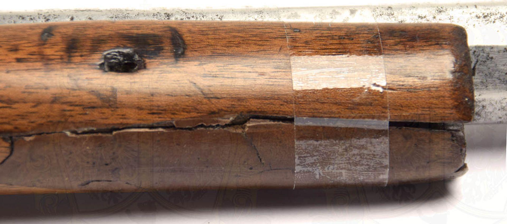 PERKUSSIONSGEWEHR, Afghanistan 19. Jh., Achtkantlauf, ca. Kal. 16 mm, durchgehend kleine Narben u. - Bild 5 aus 6