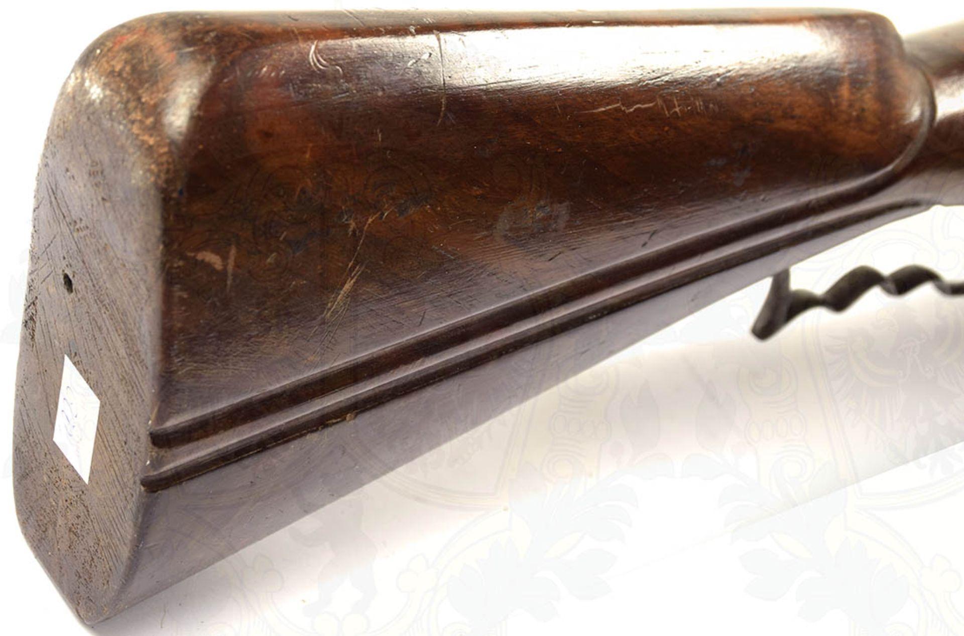RADSCHLOß-WALLBÜCHSE, schöne, detailgetreue Nachfertigung eines Modells um 1700, eiserner, etwa - Bild 9 aus 9