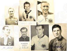 SAMMLUNG DEUTSCHE FUßBALL-NATIONALSPIELER, 50er Jahre: F. Walter, M. Morlock, F. Herkenrath, R.