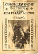 """FILMPROGRAMM """"KRIEMHILDS RACHE"""", 2. Nibelungen-Film, 1924, """"Ab heute UFA-Palast am Zoo"""" (Bln.),"""