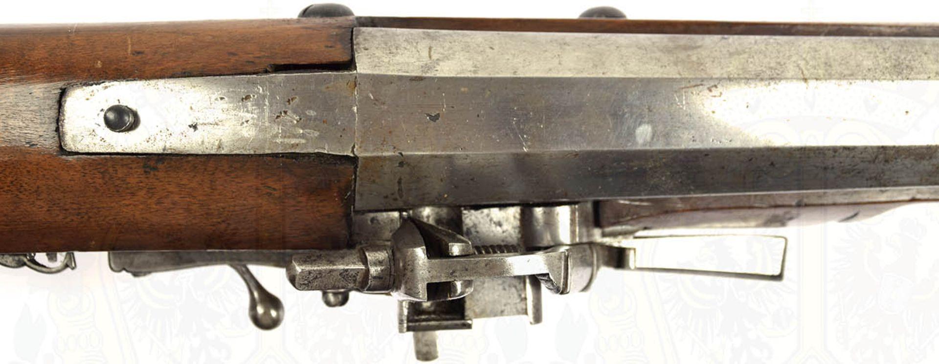RADSCHLOß-WALLBÜCHSE, schöne, detailgetreue Nachfertigung eines Modells um 1700, eiserner, etwa - Bild 8 aus 9