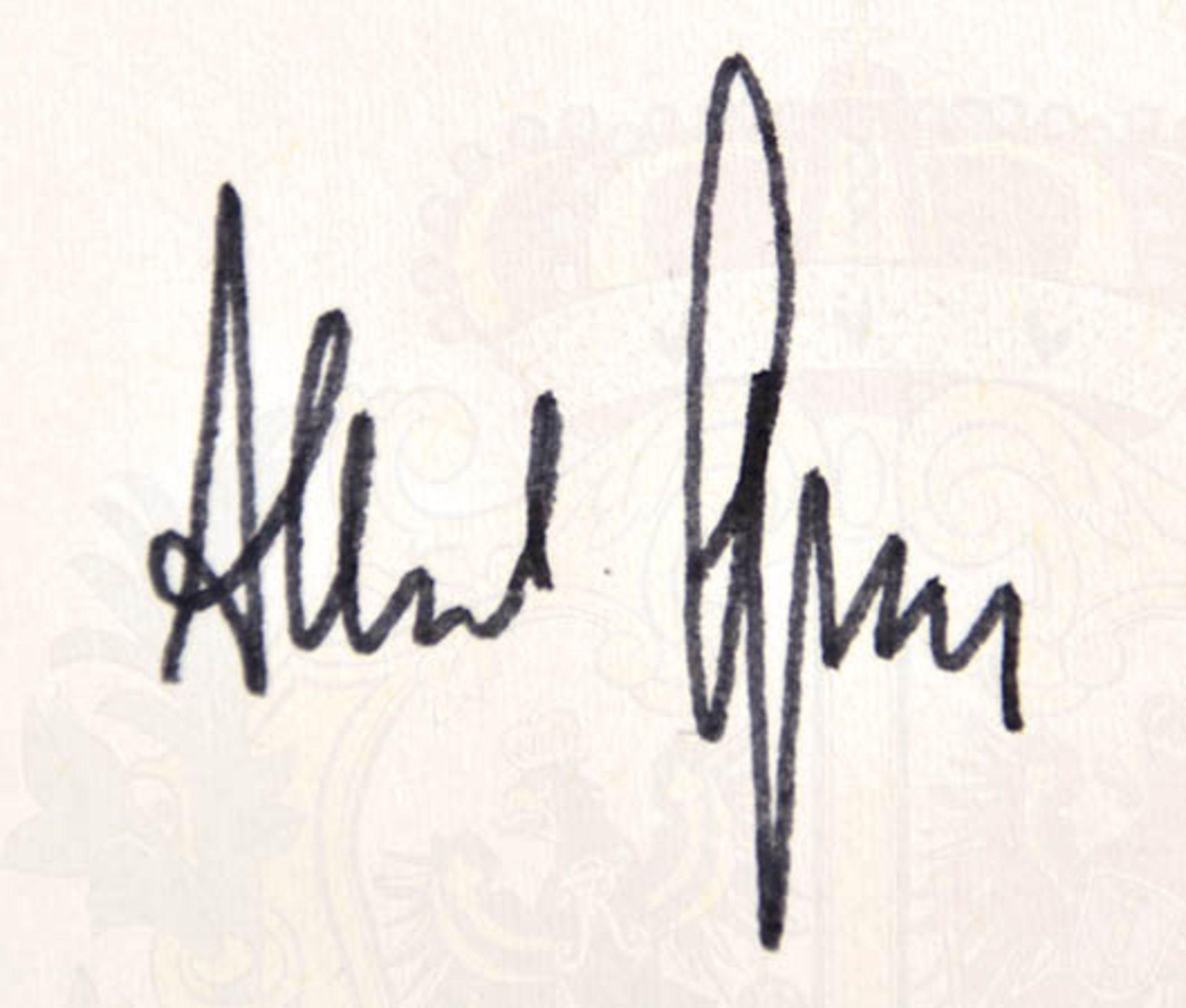 ALBERT SPEER (1905-1981), dt. Architekt und Reichsminister für Rüstung u. Kriegsproduktion, Tinten- - Bild 2 aus 2