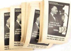 KONVOLUT WAHLZETTEL OTTO SUHR, (SPD), z. Berliner Abgeordnetenhaus 1954, ca. 150 St., m. Portrait,