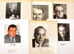 SAMMLUNG POLITIKER, BRD, Österreich, USA u. Jamaica, u. a.: C. Vance, Baum u. Strauß,