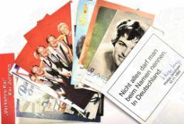SAMMLUNG TV-STARS UND MUSIKER, 15 AK u. a.: Heino, Cindy & Bert, Harry Wijnvoord, Philipp Jenninger,