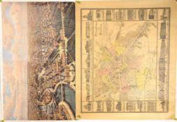 2 STADTPLÄNE BERLINS 1825 UND 1827, farbige Neudrucke des VEB Tourist Verlages 1979, Expl. 1333