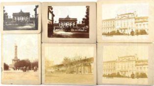 6 ATELIERFOTOS BERLIN: 2x Brandenburger Tor, 2x Französische Botschaft, Hochbahn am ehem.