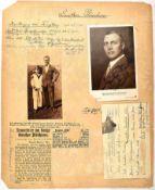 """PLÜSCHOW, GUNTHER, (1886-1931), Flugkapitän, """"Der Flieger von Tsingtau"""", Foto-AK mit Tintenwidmung"""
