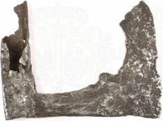 BEIL, gereingter Bodenfund, Eisen, stark narbig, Schäftung beschädigt, verm. spätes Mittelalter,