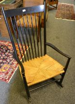 Lot 316 - A Danish rocking chair
