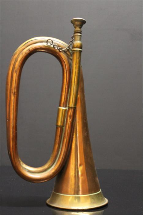 Lot 55 - A Copper and Brass Bugle