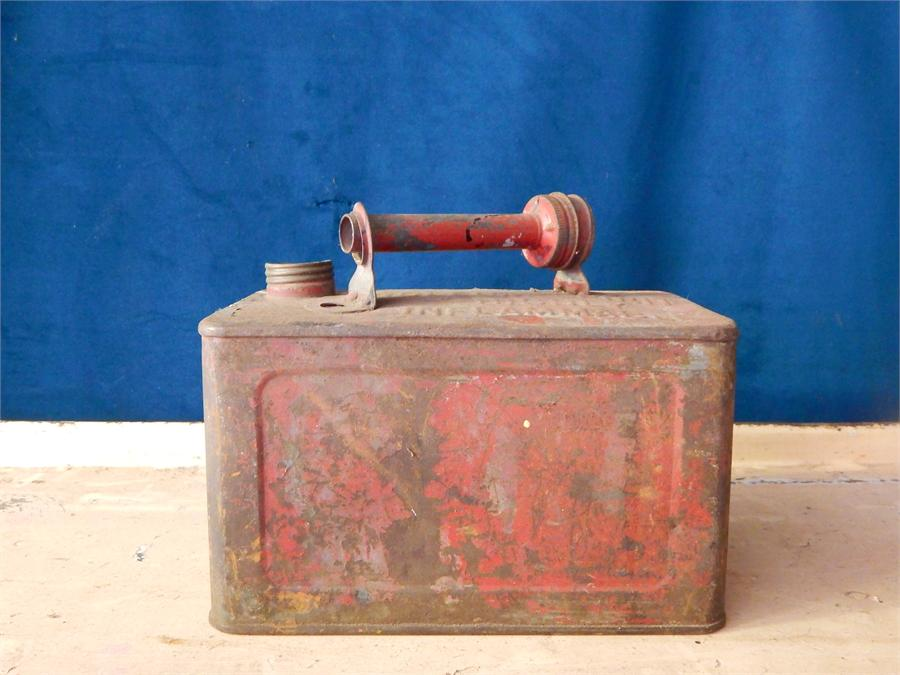 Lot 8 - Red Petroleum spirit can.