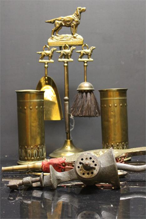 Lot 58 - A Selection of brassware