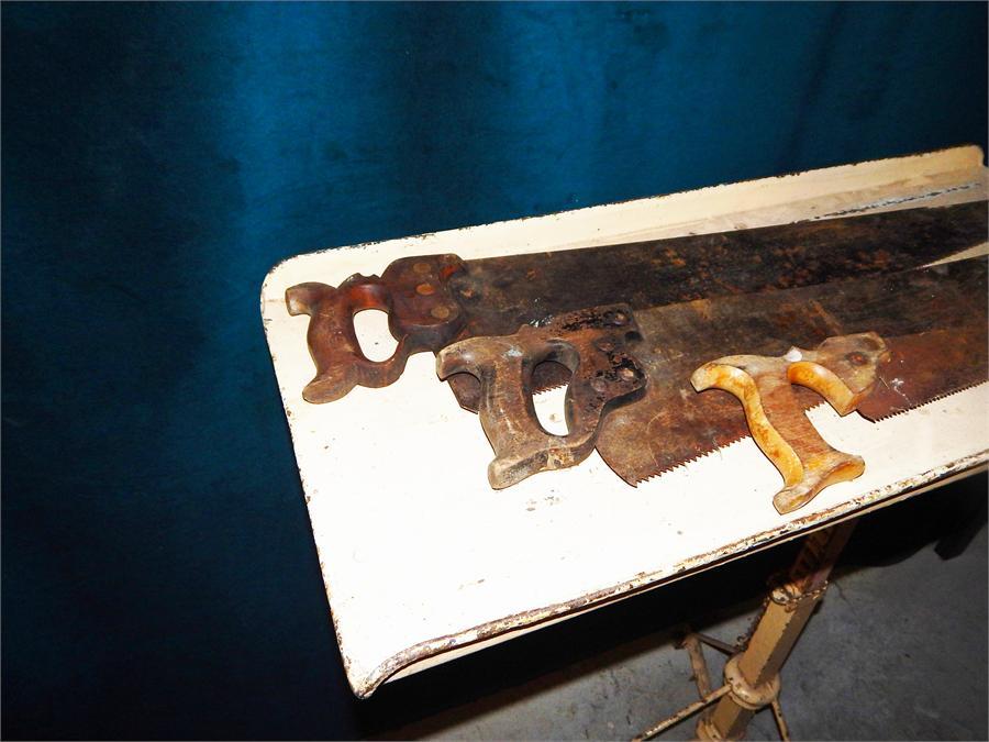 Lot 33 - Quantity of wood saws