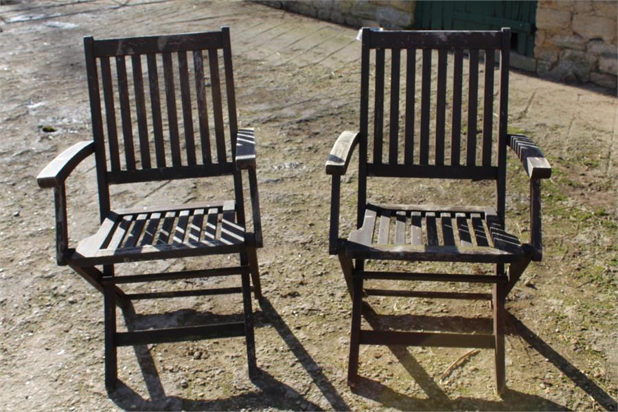 Lot 10 - Two folding garden chairs.