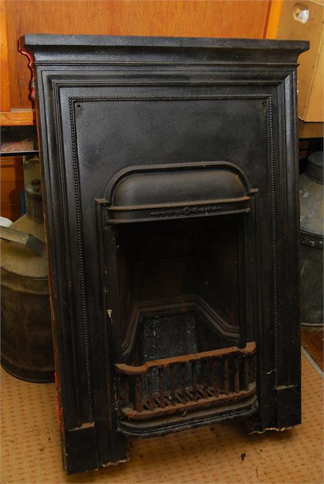 Lot 4 - Cast iron bedroom fireplace