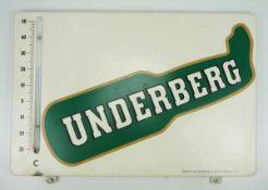 0.2.) Emailschilder / Werbeplakate Emailschild - Underberg.Hoher Rand, mit Thermometer. Ca. 32 x