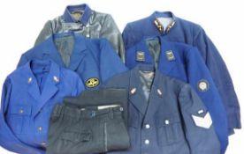 0.1.) Eisenbahn / Bergbau Eisenbahn - Sammlung Uniformierung.Sechs verschiedene Uniformjacken, teils