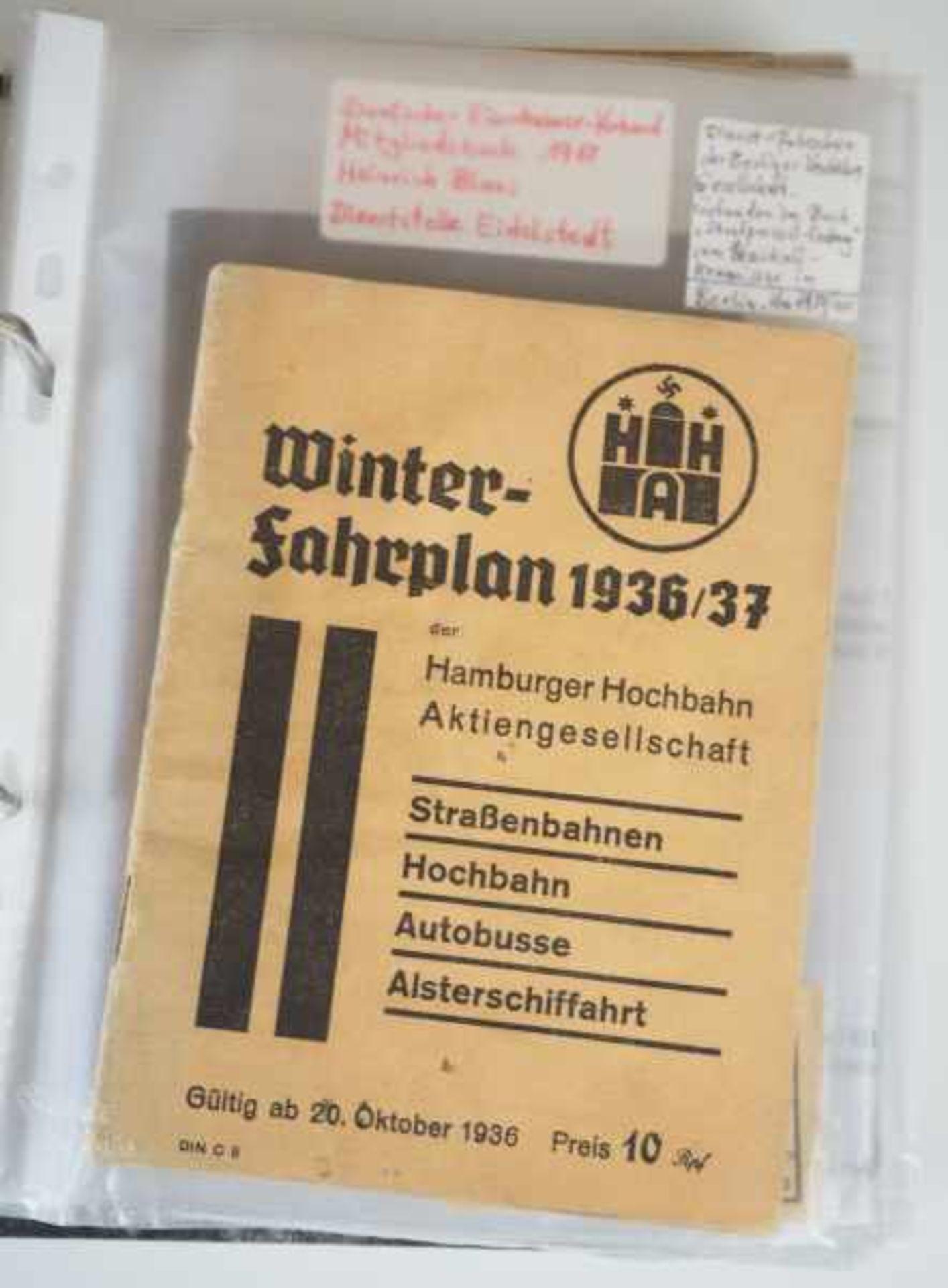 0.1.) Eisenbahn / Bergbau Eisenbahn - Ordner Dokumente.Ausweise, Fotos, Broschüren etc.Zustand: II - Bild 2 aus 6